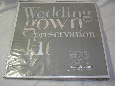 New David's Bridal Wedding Gown Preservation Kit Size N/S $189