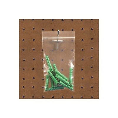 """""""Thornton's Reclosable 2 Mil Poly Bags w/Hang Hole, 9"""""""" x 12"""""""", Clear, 1000"""""""