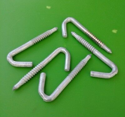 "(5 PCS) J Drive Hooks for drop line, Galvanized Steel, 7/16"" Diameter"