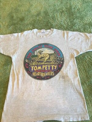 Vintage 1991 Tom Petty And The Heartbreakers Tour Shirt Size L Great Wide Open