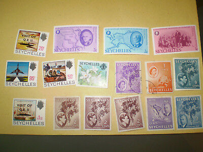 Seychelles stamps - mixed periods - Royal visit of QE2 + small selection