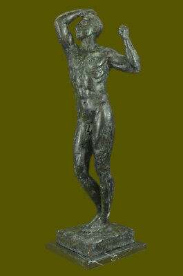 Close Out Bronze Age Hot Cast Extra Large Green Patina Office Deco Figurine BD