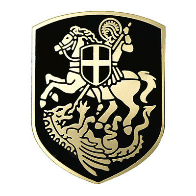 St.george Saint Cross Shield Christian Art Premium Lapel Pin Gift Box Vegasbee®