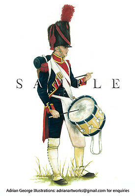 Napoleonic Print: France, Drummer foot Artillery of the Guard,