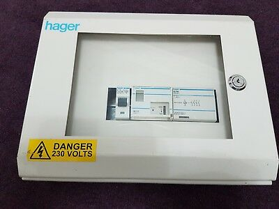 Hager Distribution board, industrial,metal clad box,Ee71,ES440,NC100 Pre owned