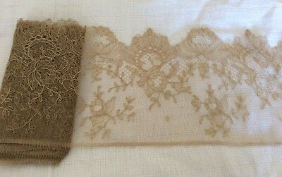 "76"" x 6"" Featherweight Silk Lace 1920""s (Pls read discription)"