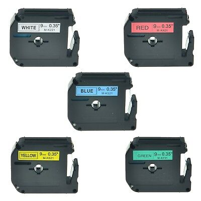 """5PK MK 221 421 521 621 721 Label Tape For Brother P-touch PT-70SP Printer 3/8"""""""