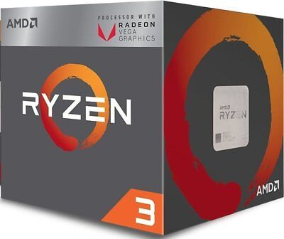 AMD Ryzen 3 2200G Processor 4MB 3.5 GHz AM4 4 Core 4 Thread CPU Vega 8 Graphics