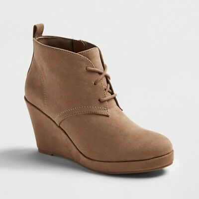 903a6fcb514 NEW WOMEN S DV Terri Lace Up Wedge Booties - Grey size 6.5. 9.5   10 ...