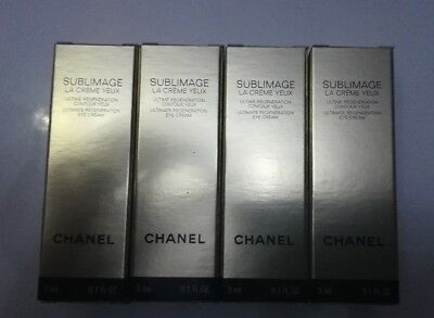 CHANEL SUBLIMAGE LA CREME YEUX EYE CREAM 4 X 3ML = 12ml
