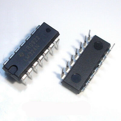 100 Pcs LM324N DIP-14 TI LM324 Operational Amplifiers