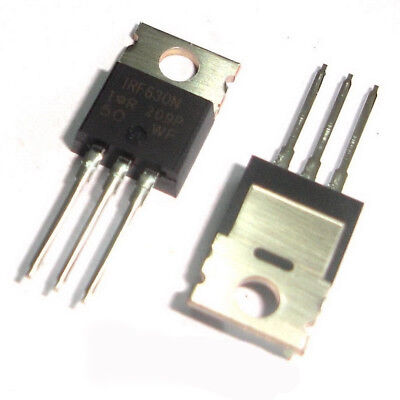 50 Pcs IRF630N TO-220 IRF630 N-Channel Power MOSFETS 200V, 9.3A, 0.30Ω