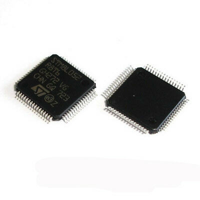 5 Pcs STM8L052R8T6 LQFP64 STM8L052 R8T6 8-bit Ultralow Power MCU, 64-KB Flash