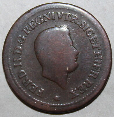Kingdom of the Two Sicilies 1-1/2 Tornese Coin 1850 KM# 365 Ferdinando II Italy
