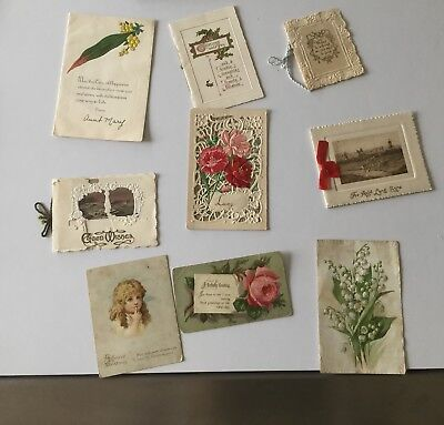 Antique Greeting Cards - 100 Years Old - Birthday, New Year, Christmas, Good Wis