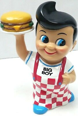 FUNKO Collectible Kip's Frisch's Bob's Shoney's Big Boy Bank Holding Hamburger