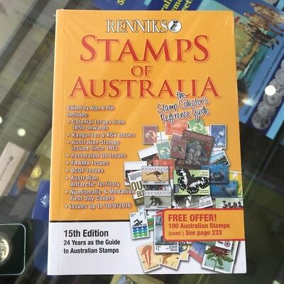 2017 Renniks Stamps of Australia 15th Edition Brand New Softcover