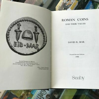 1988 Roman Coins and their Values by David R Sear Hardcover 4th Revised Edition
