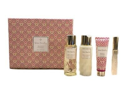 Vera Bradley Appleberry Champagne 4 PC Set Perfume + Shower Gel + Lotion + Cream