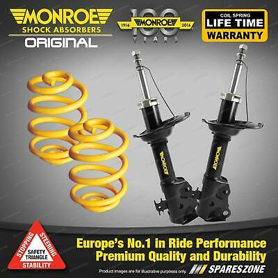 Front Lowered Monroe Shock Absorbers King Springs FORD FESTIVA WB WD WF Hatch