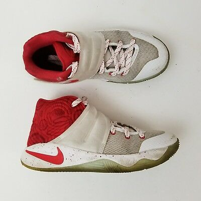 Nike Kyrie 2 GS Touch Factor Boys Shoes White/Red 826673-166 Size 4.5Y