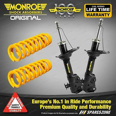 Front Standard Monroe Shock Absorbers King Springs FORD FESTIVA WB WD WF Hatch