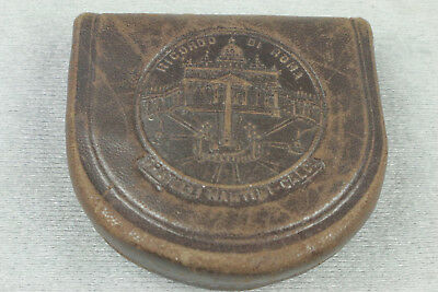 Antique Men's Tooled Leather Coin Purse