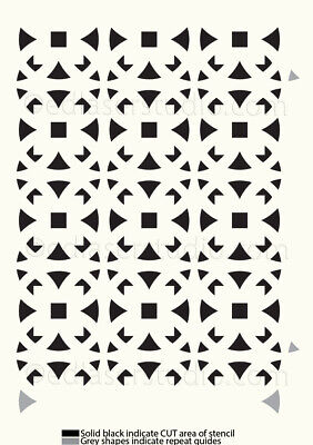Moroccan Pattern Stencil Template Card making Paint Furniture Wall Crafts TE25