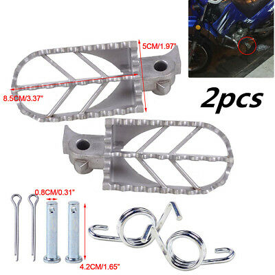 Motorcycle Stainless Steel Front Foot Peg Footrest fit for Honda Kawasaki Harley