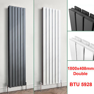 1800mm Vertical Designer Radiator Flat Panel White Anthracite Tall Upright Rads