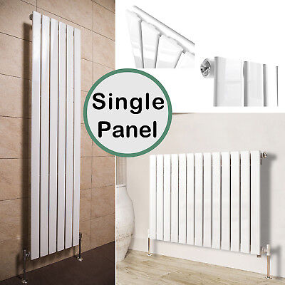 Gloss White Flat Panel Bathroom Designer Radiator Central Heating Single Column