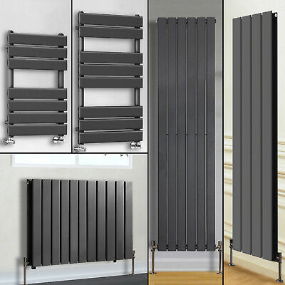 Anthracite Flat Panel Bathroom Designer Radiator Towel Rail Central Heating UK