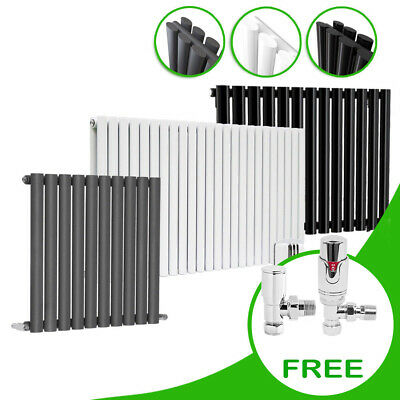 Horizontal Oval Column Rads Designer Radiator With Free Thermostatic Valves