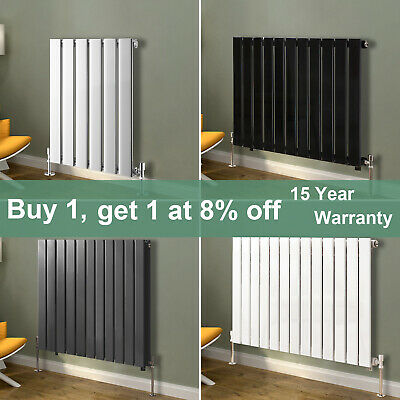 Horizontal Flat Panel Column Designer Radiator Central Heating Anthracite White