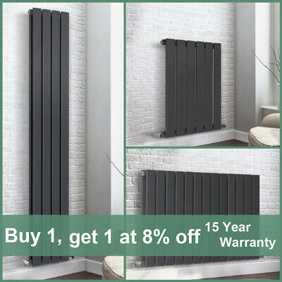 Horizonal Vertical Designer Flat Panel Central Heating Radiator Rad Anthracite