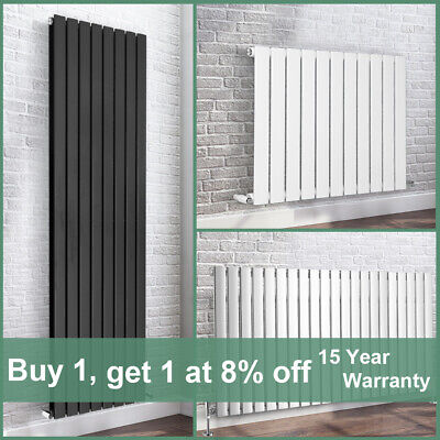 Modern Flat Panel Column Bathroom Designer Radiators White Anthracite Chrome