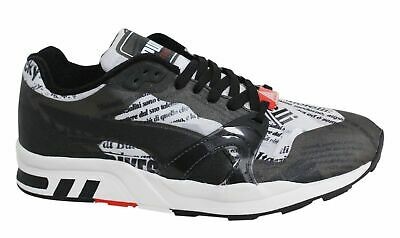 Puma Play B/&W Black White Leather Lace Up Mid Top Mens Trainers 362559 01 Y13A