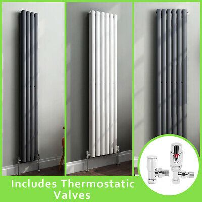 Vertical Oval Column Rads Designer Radiator With Free Thermostatic Valves