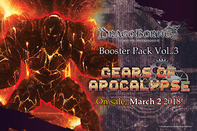 Dragoborne: Booster Pack Vol 3 Gears of Apocalypse Booster Box (20ct) PRE ORDER
