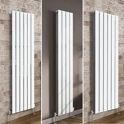 Vertical Flat Panel Column Designer Radiator Bathroom Central Heating Rad White