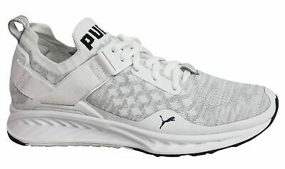 ced92224820 Puma Ignite evoKNIT Lo Lace Up Mens White Textile Trainers 189904 02 M12