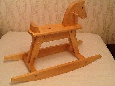 Superb Handmade Individual Wooden Rocking Horse.