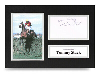 Tommy Stack Signed A4 Photo Display Red Rum Grand National Autograph Memorabilia