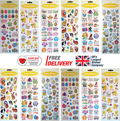 Fun Stickers Easter Children Birthday Party Loot Bag Fillers Kids Decorating