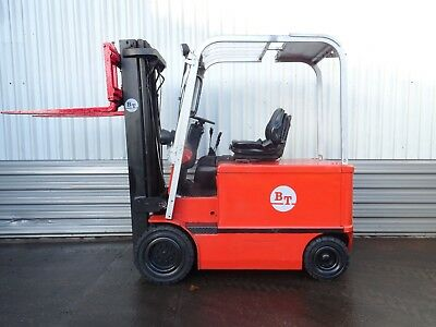 BT CARGO. 4960mm LIFT USED ELECTRIC FORKLIFT TRUCK. (#2011)
