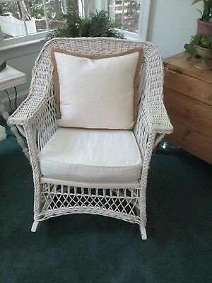 Antique American Wicker Rocking Chair
