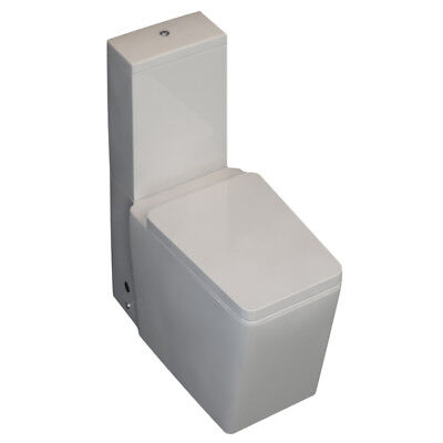 Bathroom & Cloakroom Toilet Pan Close Coupled Cistern Boston with WC Seat
