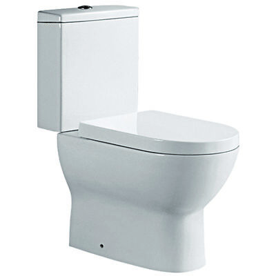 Bathroom & Cloakroom Toilet Pan Close Coupled Cistern Nature with WC Seat
