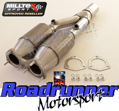 Milltek Exhaust Golf R32 MK5 High Flow Sports Cats Stainless 200 Cell MSVW284
