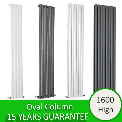Vertical Designer Oval Panel Rads Column Tall Upright Central Heating Radiator